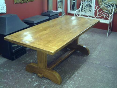 Kitchen Table made from reclaimed pine<br>Can be made to size