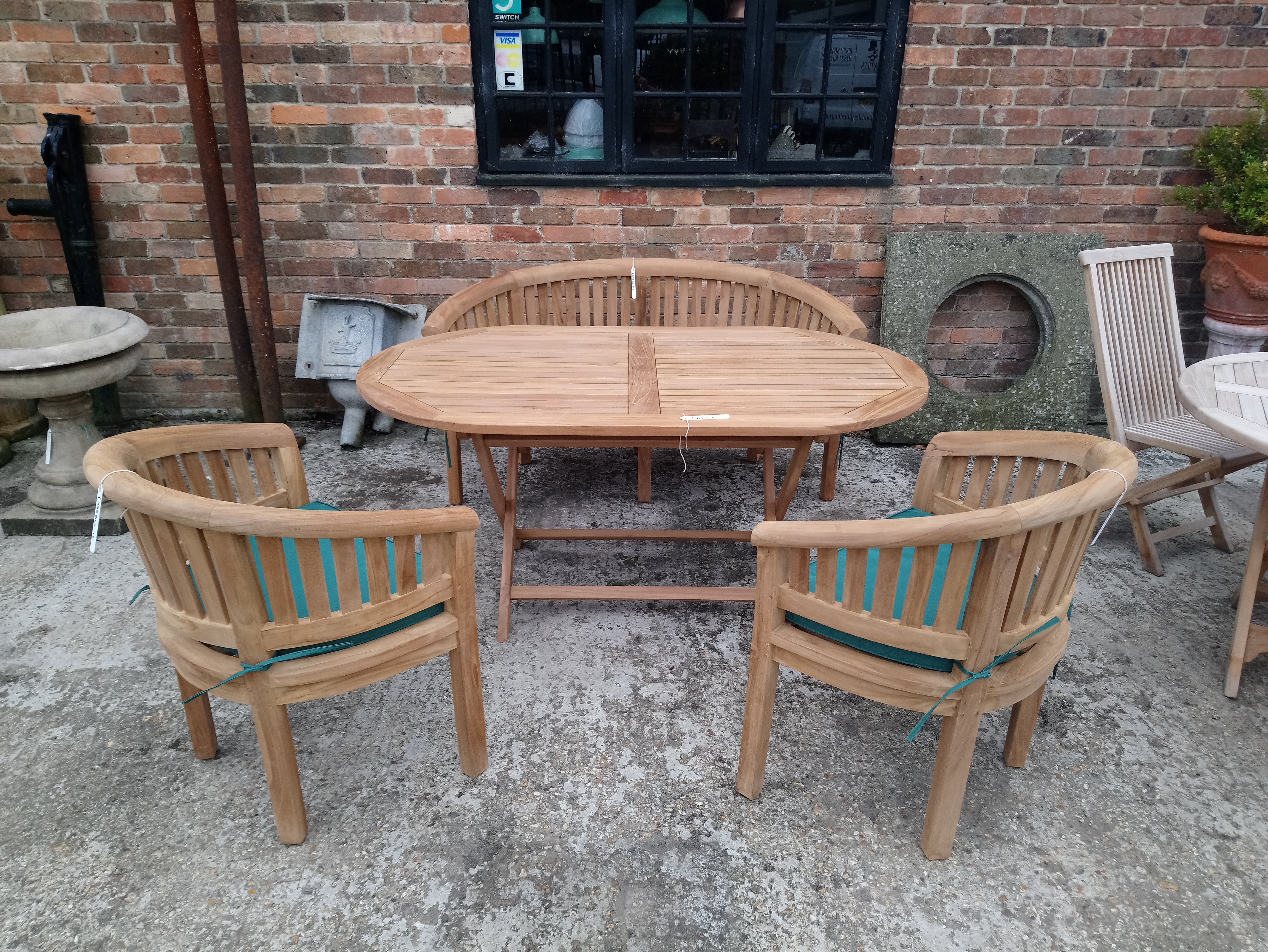<p>Selection of Teak Garden Furniture.</p><p>Can be sold as set or individually