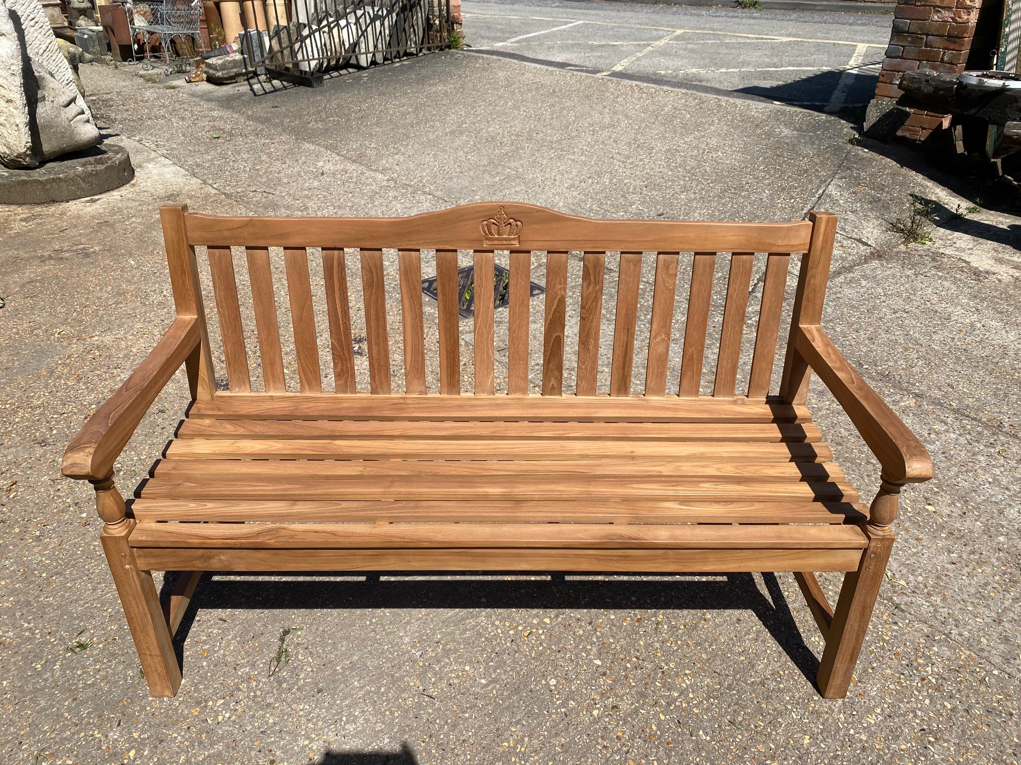 <p>Solid Teak Bench</p><p>150cm Wide X 55cm Deep X 93cm High</p>
