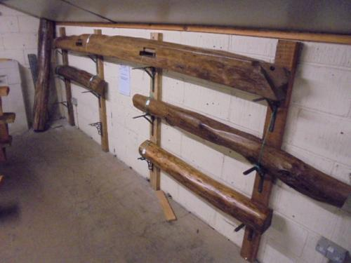 A selection of treated, sanded & waxed  reclaimed oak beams