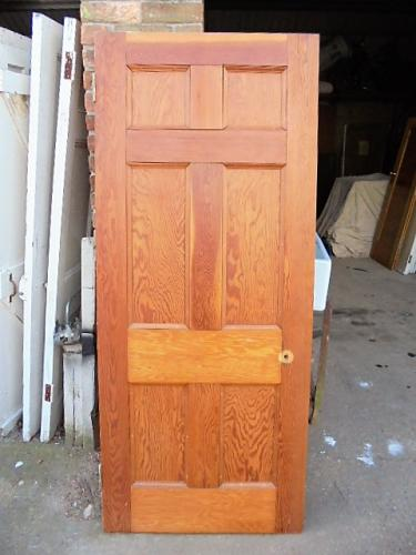 6 panel pine doors. 12 available