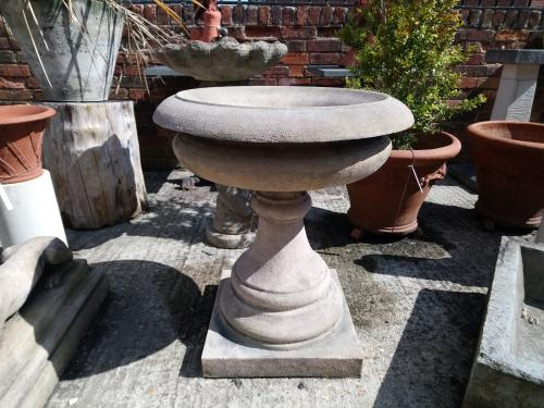 "Small Georgian Tazza.<br>Made from reconstituted Stone<br>35"" High x 43"" Diameter"