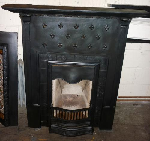 Original and complete Edwardian<br>combination fireplace<br>49.5