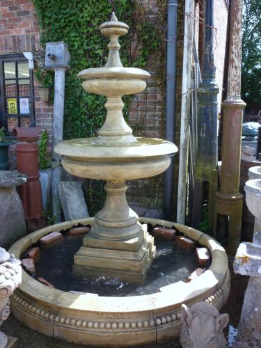 2 Tier Fountain and Surround<br>2.3m high    2.1m wide