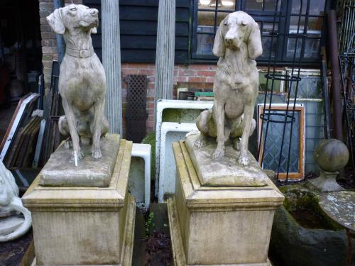Hunting Dogs On Plinths