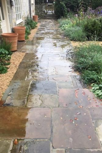Previously sold reclaimed York flagstone<br>laid near Salisbury<br>Please call for more information