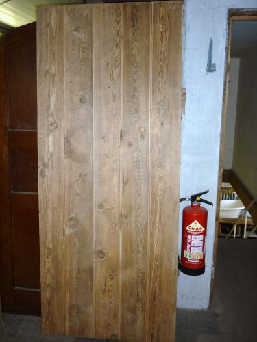 External Plank Door made from Reclaimed Pine 2