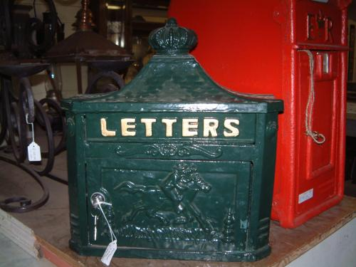 Green letter Box, also in black,<br> with keys