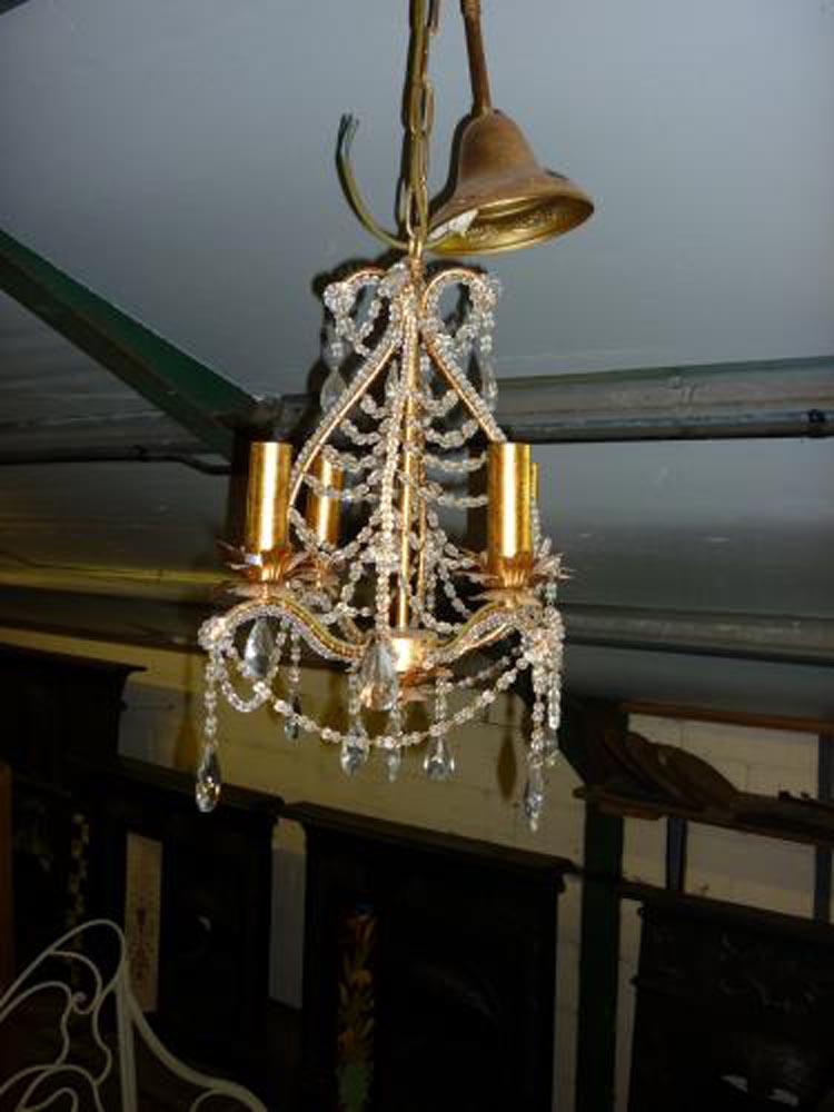 4 arm chandelier width 35cm hight 45cm
