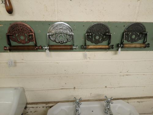 Loo Roll Holders available in different finishes'
