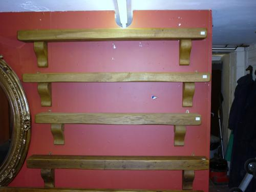 Selection of Oak and Pine Mantels