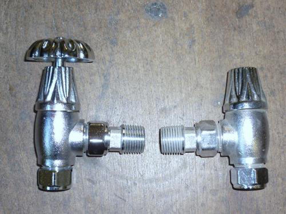 Nickel manual radiator valves