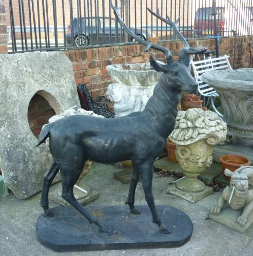Large cast iron stag