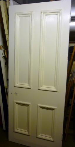 Large mouldings on 4 panel door <br>32. 3/4