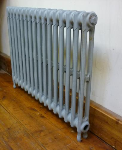 "24"" High 33"" Long<br>2 Column Radiator<br>Tested, Blasted and Primed"