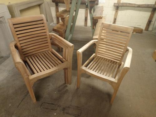 Teak Stacking Chairs 2 available