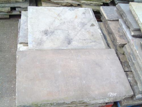 Reclaimed York Flagstone colours vary from Buff to light Grey